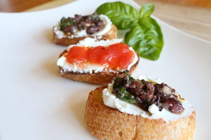 Olive Tapenade with a Goat Cheese Crostini   Tasty Kitchen: A Happy ...