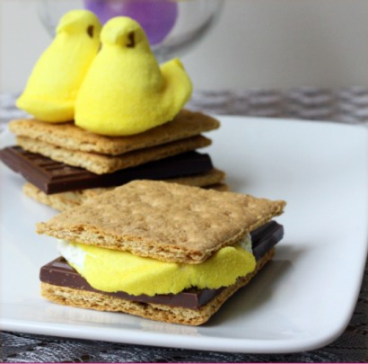 Peeps S'mores: The Easter Version Made with Marshmallow Peeps ...