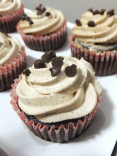 Chocolate-Coffee Cupcake with Coffee Buttercream Frosting | Tasty ...