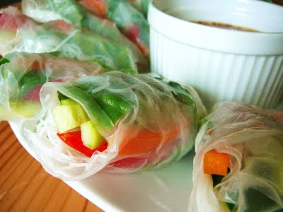 how to make lemongrass and rice paper roll sauce