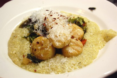 Parmesan Basil Polenta with Grilled Scallops   Tasty Kitchen: A Happy ...