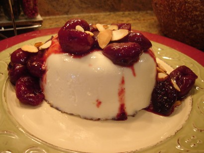 Roasted Cherries with Lavender and Almond Panna Cotta | Tasty Kitchen ...