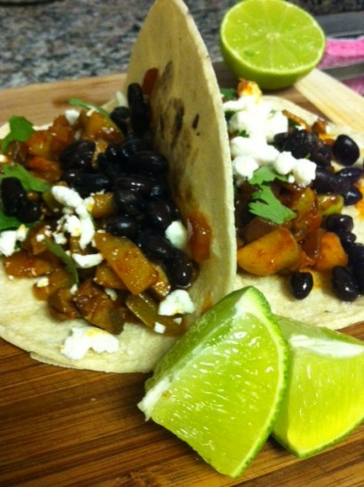Black Bean, Chayote and Goat Cheese Tacos | Tasty Kitchen ...