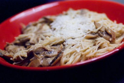 Mushroom Pasta, with Whiskey and Parmesan Sauce | Tasty Kitchen: A ...