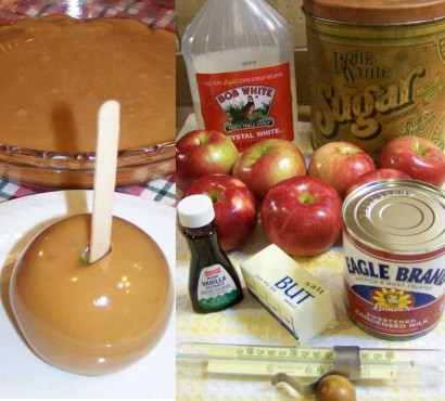 how to make blue candy apples from scratch