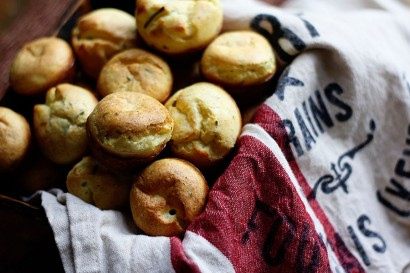 Goat Cheese and Rosemary Mini Popovers | Tasty Kitchen: A Happy Recipe ...