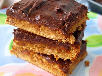 Peanut Butter Blondies with Chocolate Frosting | Tasty ...