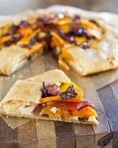 Butternut Squash, Balsamic Onions & Ricotta Galette | Tasty Kitchen: A ...