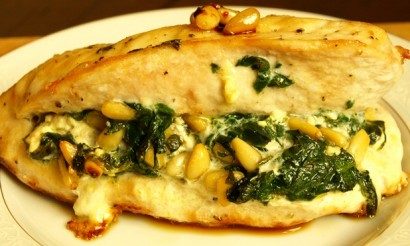 Chicken Breast Stuffed with Spinach, Feta, and Pine Nuts ...