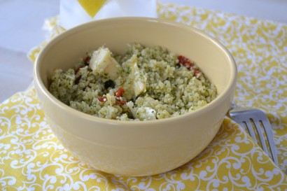 Quinoa with Kale Pesto, Artichokes and Sun Dried Tomatoes ...