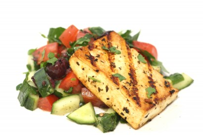 Lemon Grilled Tofu with Mediterranean Chopped Salad | Tasty Kitchen: A ...