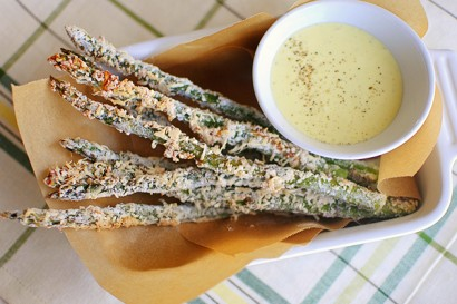 Baked Parmesan Asparagus Fries with Homemade Lemon-Garlic ...