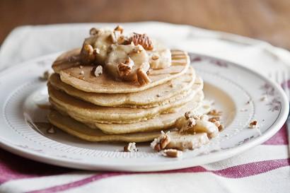 Whole Wheat Roasted Banana Pancakes | Tasty Kitchen: A ...