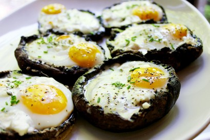 Portobello Eggs with Goat Cheese and Herbs | Tasty Kitchen: A Happy ...