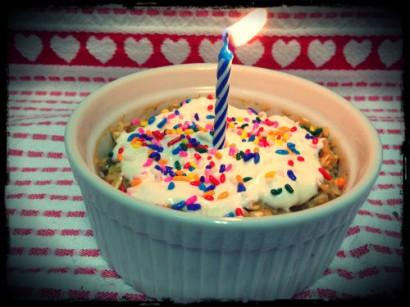 Birthday Cake Oatmeal