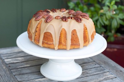 Pumpkin Pecan Cake with Bourbon Brown Sugar Glaze | Tasty Kitchen: A ...