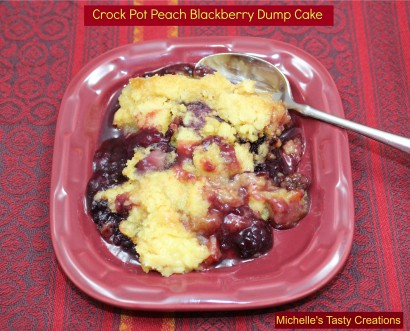 Crockpot Peach Blackberry Dump Cake Tasty Kitchen A Happy Recipe Community