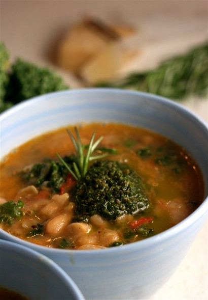 Cannellini Bean Soup with Parmesan and Kale | Tasty ...