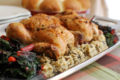 Roasted Cornish Game Hens with Bacon-Herb Butter | Tasty Kitchen: A ...