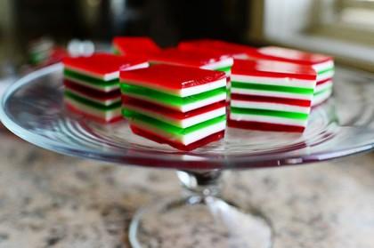 Christmas Jello Recipes.Christmas Finger Jello