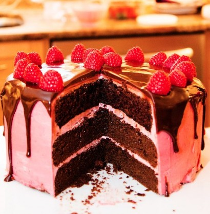 Dark Chocolate Cake with Raspberry Buttercream Tasty Kitchen A