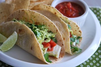 Fish tacos with avocado cabbage slaw tasty kitchen a for Cabbage slaw for fish tacos