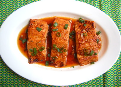 how to cook salmon in the oven with maple syrup