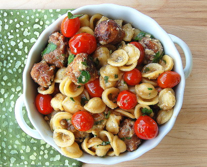 Orecchiette with Roasted Tomatoes and Sausage   Tasty ...