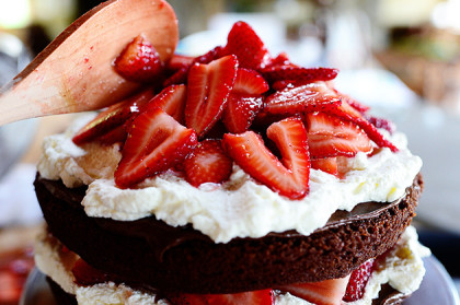 Chocolate Strawberry Nutella Cake The Pioneer Woman