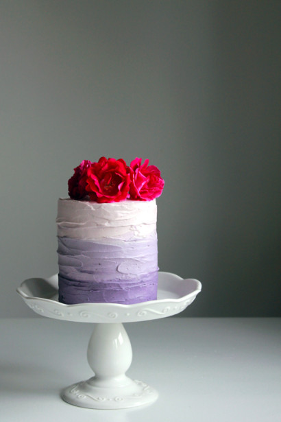 Purple Ombre Cake With Blackberry Compote Tasty Kitchen