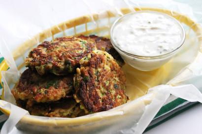 Zucchini Crab Cakes Vegan