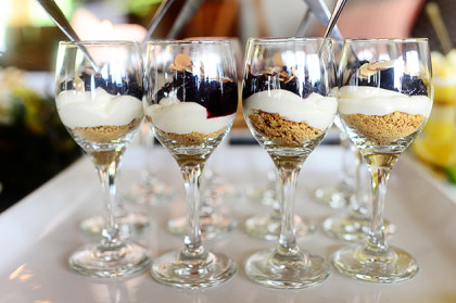Desserts In A Martini Glass Layered Jelly