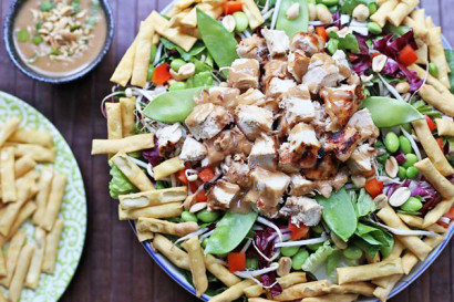 Asian Chopped Chicken Salad with Ginger Peanut Dressing | Tasty ...