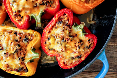 Southwestern Turkey And Quinoa Stuffed Peppers Tasty