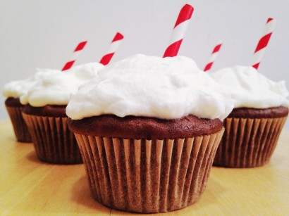Dr Pepper Float Cupcakes
