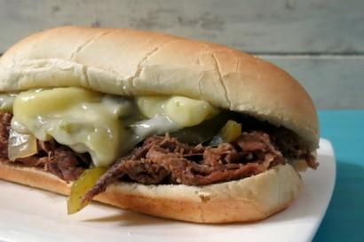 recipe: flank steak philly sandwich [30]