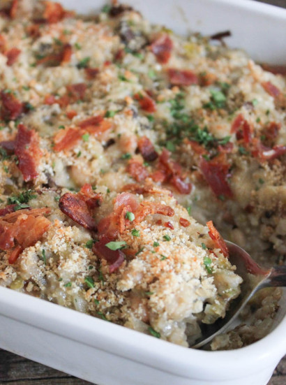 Mushroom, White Bean and Brown Rice Casserole with Bacon and Gruyère ...
