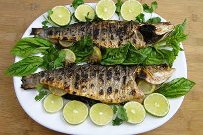 Grilled branzino fish with lime and herbs tasty kitchen for What is branzino fish