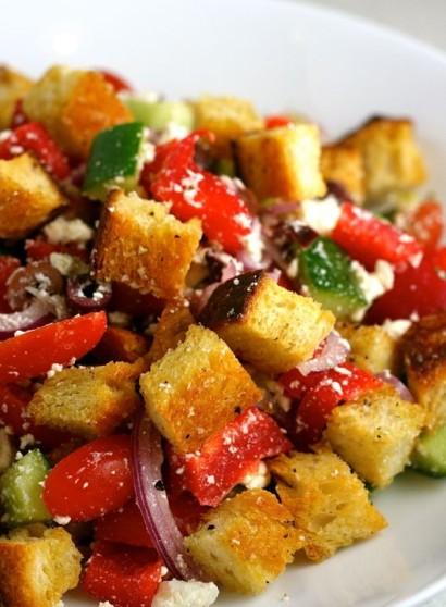 Greek Panzanella Salad Tasty Kitchen A Happy Recipe