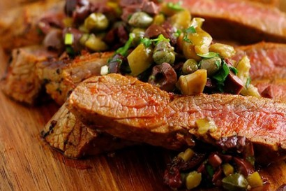 Grilled Flank Steaks with Sicilian Olive Tapenade | Tasty Kitchen: A ...