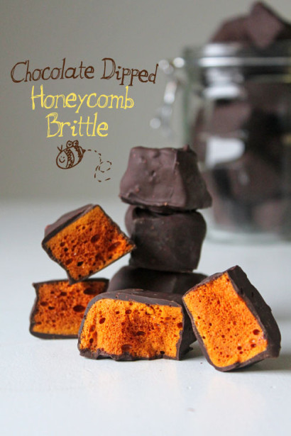 Chocolate Dipped Honeycomb Brittle   Tasty Kitchen: A Happy Recipe ...