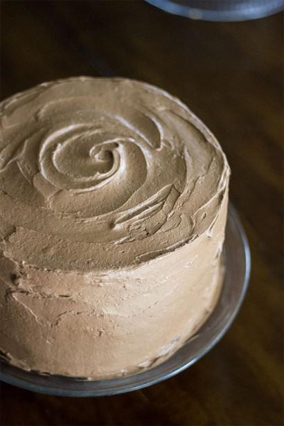 Natural Black And White Birthday Cake Tasty Kitchen A