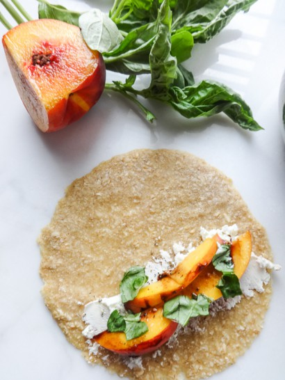 Peach- and Goat Cheese-Filled Oat Crepes   Tasty Kitchen: A Happy ...
