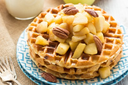 Gluten-Free Cinnamon Chip Waffles with Caramelized Apples ...