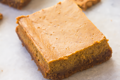 Pumpkin Cheesecake Bars With Biscoff Cookie Crust Tasty