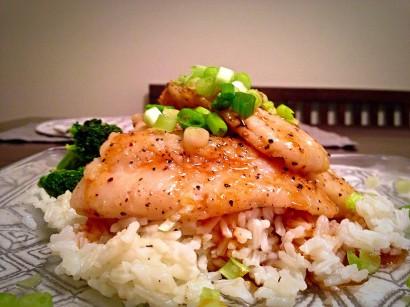 Asian Glazed Swai Fish