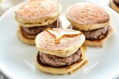 Buttermilk And Cinnamon Mini Pancake Breakfast Sandwiches With