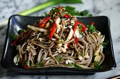 Cold Sesame Soba Noodle Salad with Cabbage Slaw | Tasty Kitchen: A ...