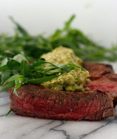 Flank Steaks with Shallot and Tarragon Pesto | Tasty ...