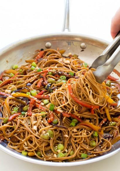 Rainbow Vegetable Noodle Stir Fry Tasty Kitchen A Happy